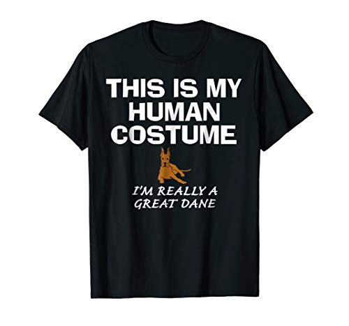 Great Dane This Is My Human Costume Halloween Funny T-Shirt]()
