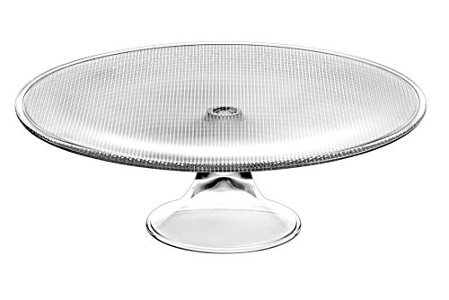 - Glass Footed Cake Plate - Lead Free Crystal -13