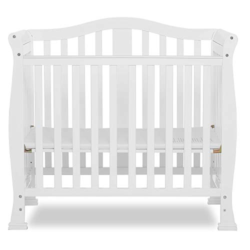 Dream On Me Addison 4 in 1 Convertible Mini Crib, White (Child Of Mine Crib And Changing Table Combo)