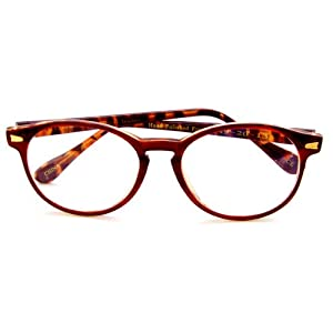Bi Focal Reading Glasses Rounders Style - Affordable Bi Focals with Style, 3.00, Brown