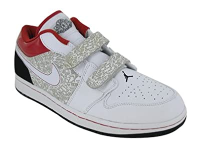 dabeb4ab3b4b NIKE Men s AIR Jordan 1 Low Velcro Basketball Shoes 8.5 (White Varsity R.   Amazon.co.uk  Shoes   Bags