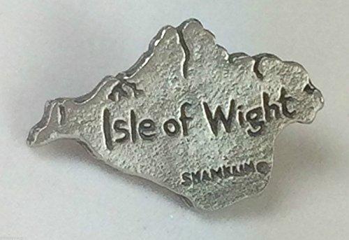 île de Wight Grandes lignes Carte Qualité Fait Main Étain Pins Badge