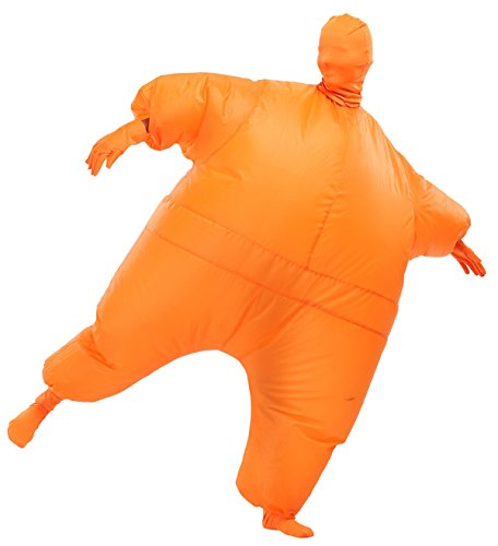 SASALO Adult Inflatable Full Body Suit Fat Chub Suit Halloween Funny Blow up Costume Jumpsuit (Fat Suit Costumes)