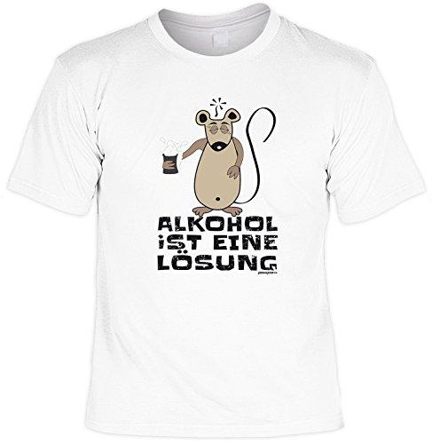 Geburtstags Geschenk Herren Fun-Bier-t-shirt als Geschenk - Motiv: Alkohol Goodman Design® XL Farbe: weiss