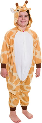 Silver Lilly Kids Giraffe Animal Costume - Childrens Plush One Piece Pajamas (T)