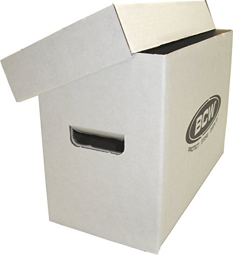 (5) BCW Brand SHORT Comic Storage Box - Holds 150 - 175 Comic Books - CXBCSHORT