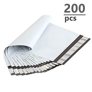 Amazon.com: UCGOU - 200 bolsas de correo de polietileno de ...
