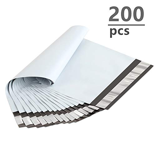 UCGOU 200 Pack- 6x9 Inch Poly Mailers Bags White Shipping Envelopes Mailers Bags with Self Adhesive