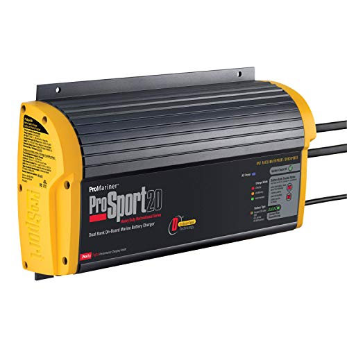ProMariner 43020 ProSport 20 Dual 3rd Generation 20 Amp 12/24 Volt 2 Bank Battery Charger ()