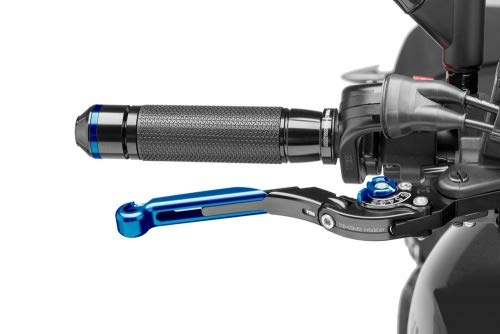 Puig 19ANA1297 brake and clutch lever for e.g with blue adjuster and blue slider Set 2013- extendable and foldable black Yamaha MT-09 ABS Str.Rally//Sp.Tracker RN29