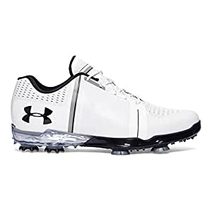 Under Armour Men's UA Spieth One Golf Shoes White/Black/White 10 M