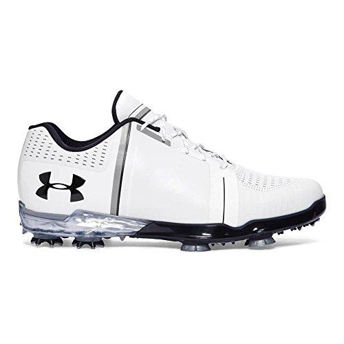 NEW 2017 Mens Under Armour Spieth One Golf Shoes White / Black Sz 7.5 M