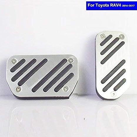 szss-car coche nueva aleación de aluminio Combustible Gasolina Combustible del embrague pedales de freno en el frenado pad Foot Rest Plate Set: Amazon.es: ...