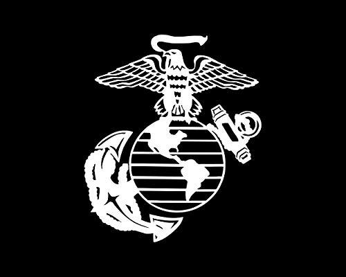 U.S. Marine Corps Semper Fi Fidelis Seal White Car Decal/Sticker