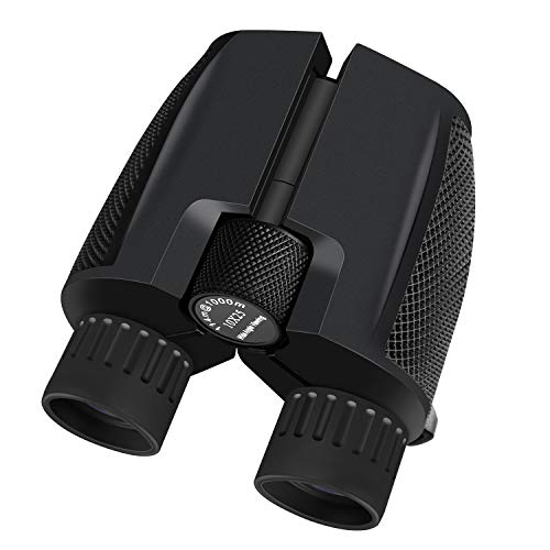 10x25 Binoculars for Adults, CBoner Small Compact and Folding High Powered Binoculars with Weak Light Night Vision Bird Watching for Outdoor Sports Games and Concerts