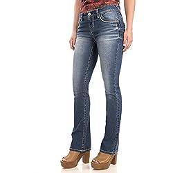 WallFlower Juniors Washed Basic Legendary Bootcut Jeans in Keller Size:13