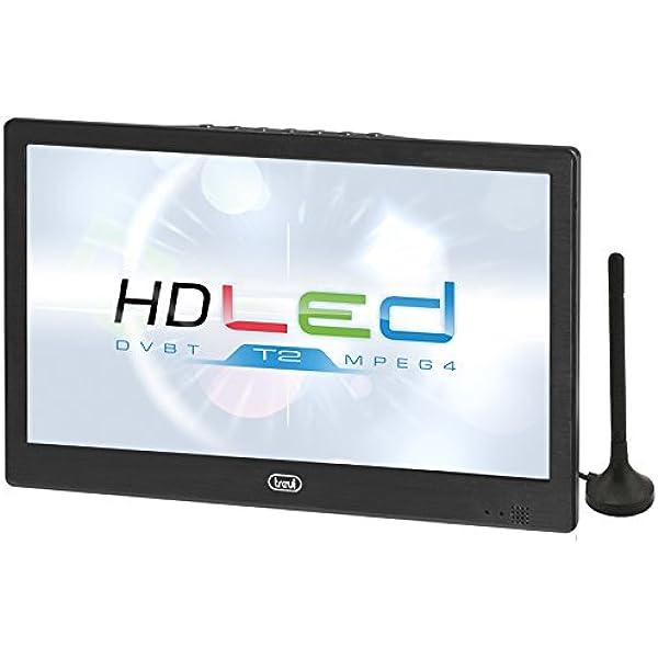 LTV 2010 - TV LED HD portátil de 10 pulgadas, color negro: Amazon ...
