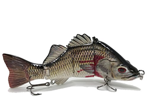 Best Bass Pike Walleye Muskie Fishing Lures Amazing Swimbait With Vivid Fish Swimming Action Bait (Bloody Bass, - Canada Swim Bags