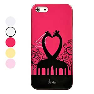 DEVIA Ergonomic Design Giraffe Bride and Bridegroom Pattern Hard Case for iPhone 5/5S (Assorted Colors) , Red