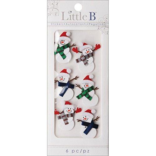 Snowmen Scrapbook Paper (Little B 100211 Dimensional Stickers, Mini, Winter Snowmen)