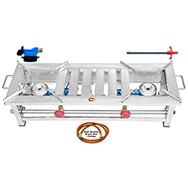 CAY Stainless Steel 2 Burner Gas Stove 5