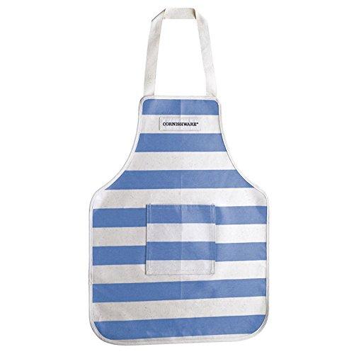 - Cornishware Blue and White Stripe PVC Wipe Clean Child's Apron