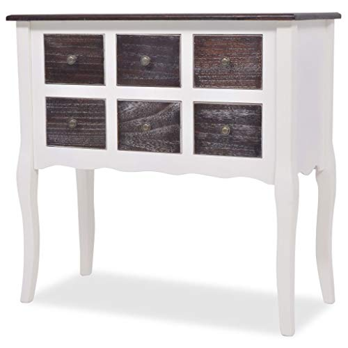 French Style Chest Drawers White Antique Bedroom Living Room Wooden Furniture Small Drawer Shabby Chic Sideboard Table Vintage Cottage Console Hallway Hall Country Storage Display Unit Kitchen Large B