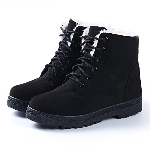 With Brand Plus Fashion Winter Warm Sneaker Show Shoes Flat Black2 Best Women's Cotton Boots Snow pd00AqvnR
