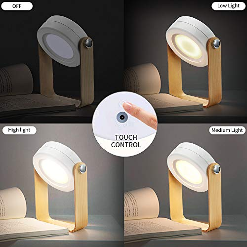 Folding Table Lamp Safe Night Light Bedside Lamp Touch Control 3 Brightness Levels for Reading Bedroom Outdoor LED Camping Lantern Light