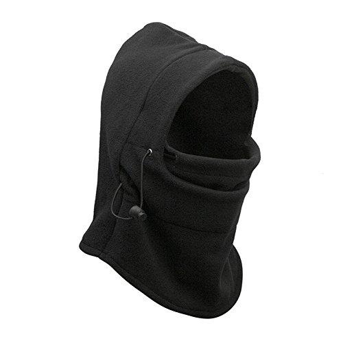 Neck warmer Mask Hoods - TOOGOO(R)Mens Polar Fleece Thermal Neck warmer Snood Scarf Winter Ski Motorbike Mask Hoods (Fleece Snood)