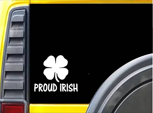 Proud Irish Sticker k234 6 inch Ireland shamrock decal
