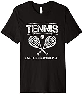 Tennis Eat Sleep Tennis Repeat Premium T-shirt | Size S - 5XL