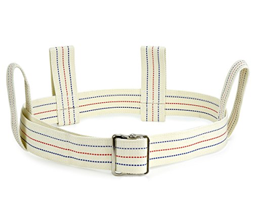 - Medical Gait Belt, Soft Nylon Transfer Belt With 6 Handles And Quick Release Buckle, Machine Washable - Back 4