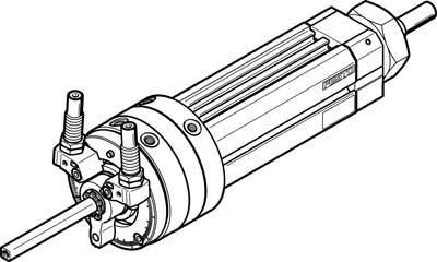 Festo 556463 Model DSL-25-25-270-CC-A-S2-B Swivel/Linear Unit