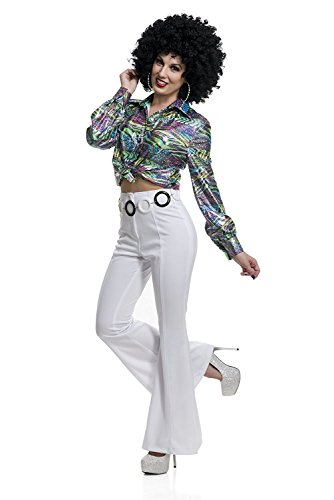 Charades Women's 70's Diva Disco Costume Shirt, As Shown, Small -