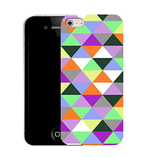 Mobile Case Mate IPhone 4 clip on Silicone Coque couverture case cover Pare-chocs + STYLET - icosahedron pattern (SILICON)