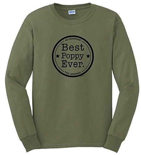Grandpa Green T-shirt (Grandpa Gifts for Fathers Day Best Poppy Ever Seal No Nonsense The Original Long Sleeve T-Shirt 2XL MlGrn)