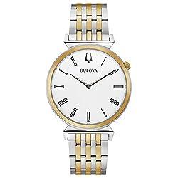 Men's Bulova Classic Regatta Two-Tone Stainless Steel Watch 98A233