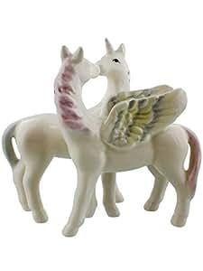 Juego de salero y pimentero Unicornio y pegaso