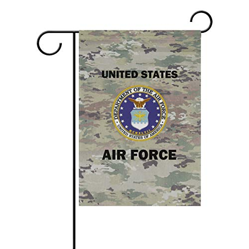 poeticcity US Air Force Camo Camoflage Home Decorative Outdoor Two-Sided Garden Flag 12