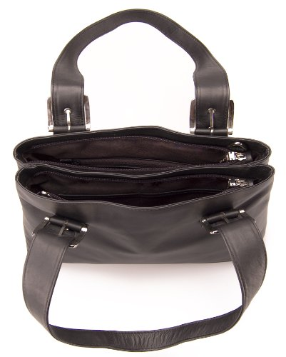 navy Visconti Shoulder Leather Viola Multi Black Removable Pocket For Crossbody 18666 Women Handbag Strap Bag rrCqwnxg