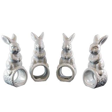 Easter Rabbit Napkin Ring Set- Set of 4
