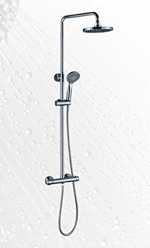 Platos de ducha y mamparas Conjunto de Ducha_PdM_ Arse con termostático Redondo: Amazon.es: Hogar