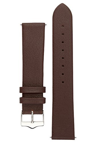 Brown Calfskin Mens Strap - Signature Easy in brown 21 mm watch band. Replacement watch strap. Genuine leather. Steel Buckle