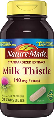 Cheap Nature Made Milk Thistle Extract 140mg, 50 Capsules (Pack of 3)