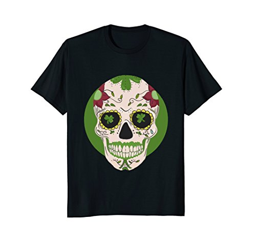 Sugar Skull St Patricks Day Irish T-Shirt Cinco de Mayo (Boys Sugar T-shirt)