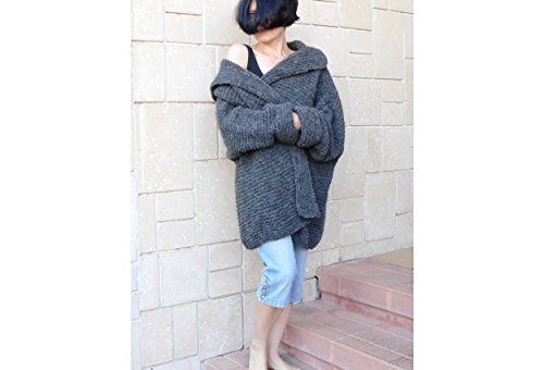 Women grunge mohair cardigan coat by PassionMK