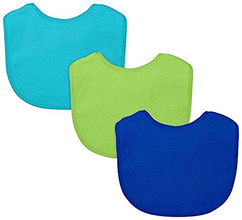 green sprouts Stay-Dry Infant Bibs, 3 Count