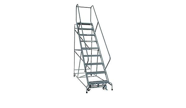 cotterman – 1209r2632 a1e24b4 C1p6 – 9-Step Rolling escalera, Metal expandido paso banda de rodadura, 120 de altura, 450 kg capacidad de carga.: Amazon.es: Bricolaje y herramientas