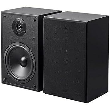 Monoprice65in 2 Way Bookshelf Speakers Pair Black